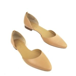 Talbots Nude color leather flats sz9